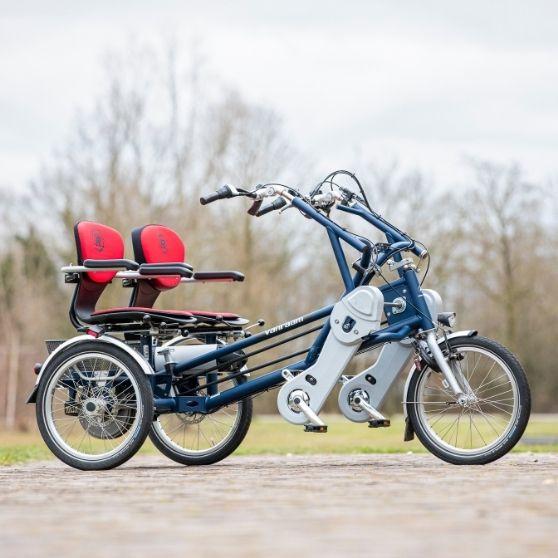 Vrijwilligers duo-fiets